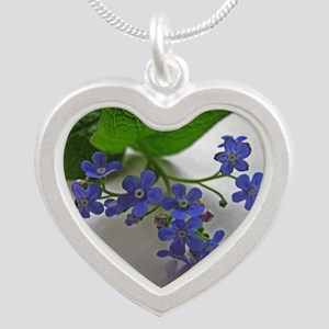 .so blue. Silver Heart Necklace