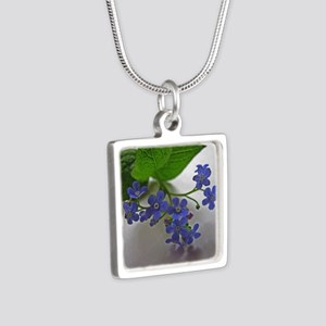 .so blue. Silver Square Necklace