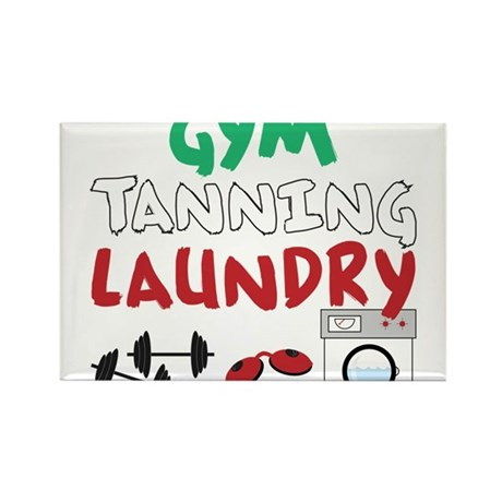 Gym Tanning Laundry Rectangle Magnet