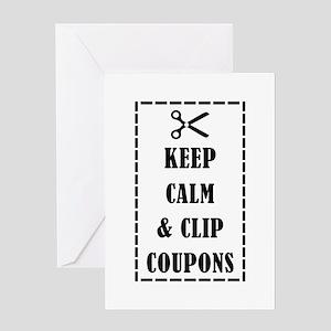 KEEP CALM & CLIP COUPONS Greeting Card