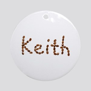 Keith Coffee Beans Round Ornament