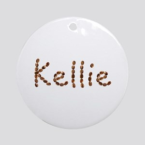 Kellie Coffee Beans Round Ornament