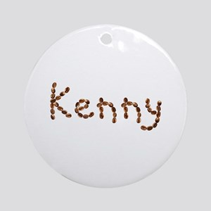 Kenny Coffee Beans Round Ornament