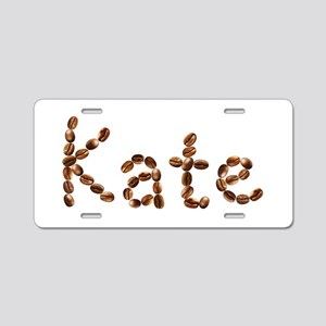 Kate Coffee Beans Aluminum License Plate