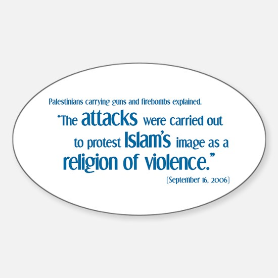 Attack for Peace! Oval Decal
