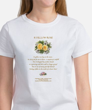 Yellow Rose Design 2 Women's T-Shirt