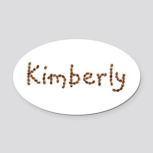 Kimberly Coffee Beans Oval Car Magnet