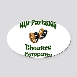 Green lettering UW Parkside Theater Company Oval C