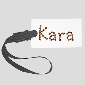 Kara Coffee Beans Large Luggage Tag