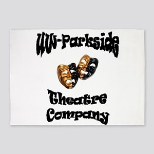 Black Lettering UW Parkside Theater Company 5'x7'A