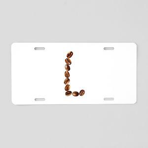 L Coffee Beans Aluminum License Plate