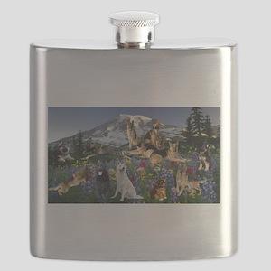 German Shepherd Country Flask