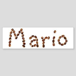 Mario Coffee Beans Bumper Sticker