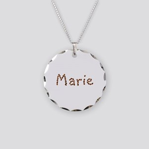 Marie Coffee Beans Necklace Circle Charm