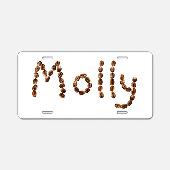 Molly Coffee Beans Aluminum License Plate
