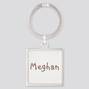 Meghan Coffee Beans Square Keychain