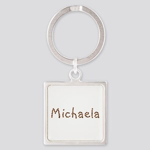 Michaela Coffee Beans Square Keychain