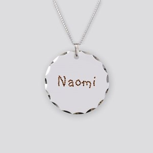 Naomi Coffee Beans Necklace Circle Charm
