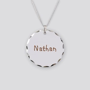 Nathan Coffee Beans Necklace Circle Charm
