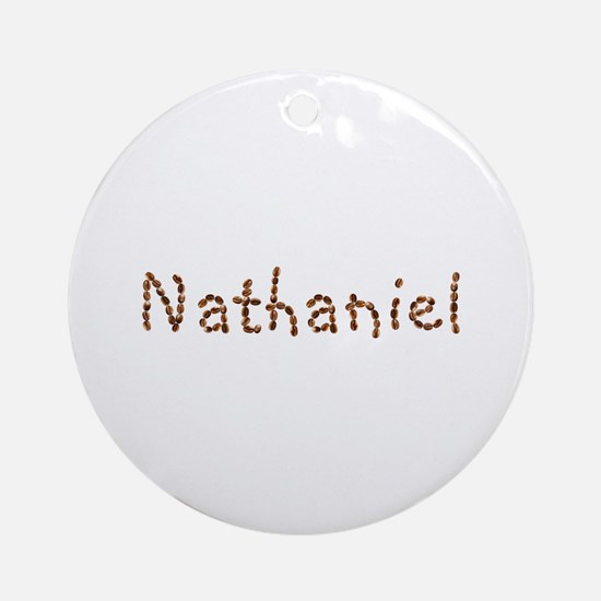 Nathaniel Coffee Beans Round Ornament