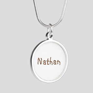 Nathan Coffee Beans Silver Round Necklace