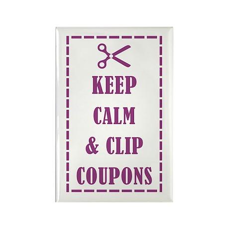 KEEP CALM & CLIP COUPONS Rectangle Magnet (100 pac