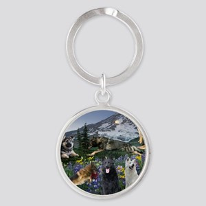 German Shepherd Country Keychains