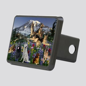 German Shepherd Country Rectangular Hitch Cover
