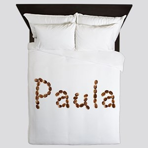 Paula Coffee Beans Queen Duvet