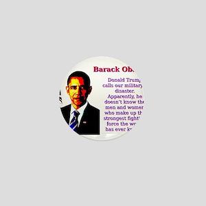 Donald Trump Calls Our Military - Barack Obama Min