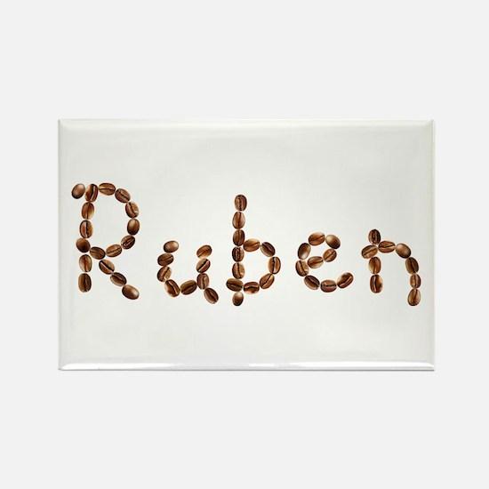 Ruben Coffee Beans Rectangle Magnet