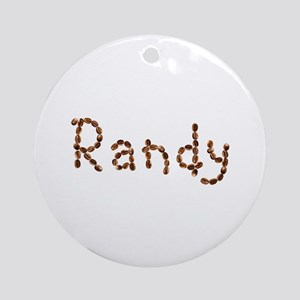 Randy Coffee Beans Round Ornament