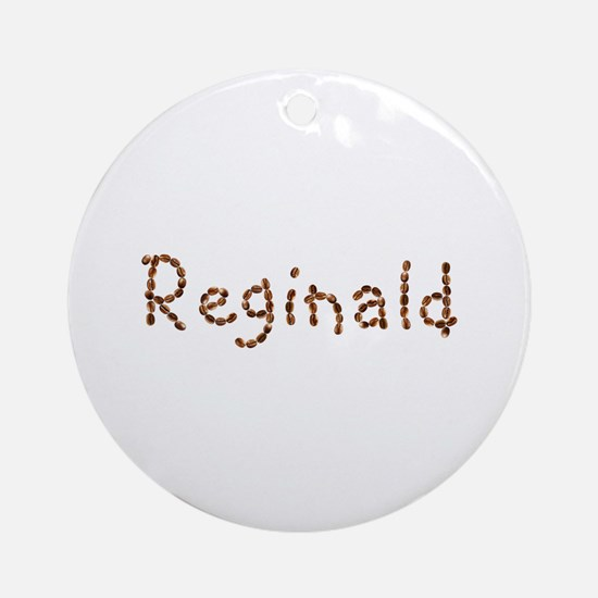 Reginald Coffee Beans Round Ornament