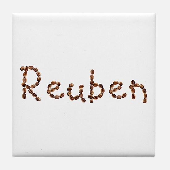 Reuben Coffee Beans Tile Coaster