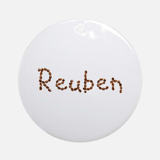Reuben Coffee Beans Round Ornament