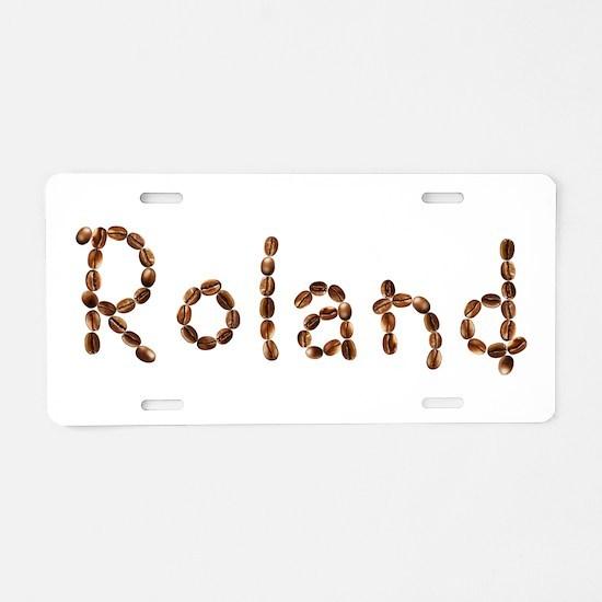 Roland Coffee Beans Aluminum License Plate