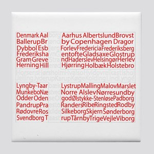 Danish Cities Flag Tile Coaster