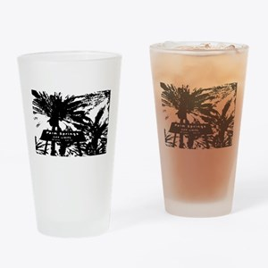 BlacknWhite Palm Springs sign Drinking Glass