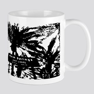BlacknWhite Palm Springs sign Mug