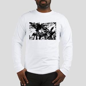 BlacknWhite Palm Springs sign Long Sleeve T-Shirt