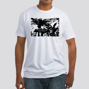 BlacknWhite Palm Springs sign Fitted T-Shirt