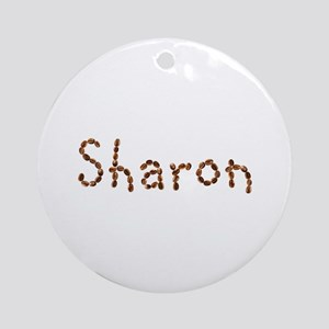 Sharon Coffee Beans Round Ornament