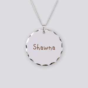 Shawna Coffee Beans Necklace Circle Charm