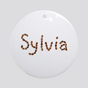 Sylvia Coffee Beans Round Ornament