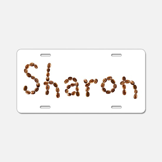 Sharon Coffee Beans Aluminum License Plate
