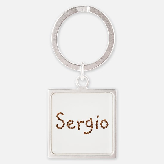 Sergio Coffee Beans Square Keychain