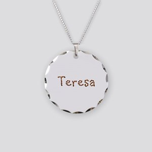 Teresa Coffee Beans Necklace Circle Charm