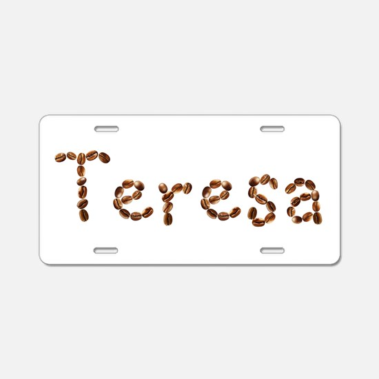 Teresa Coffee Beans Aluminum License Plate