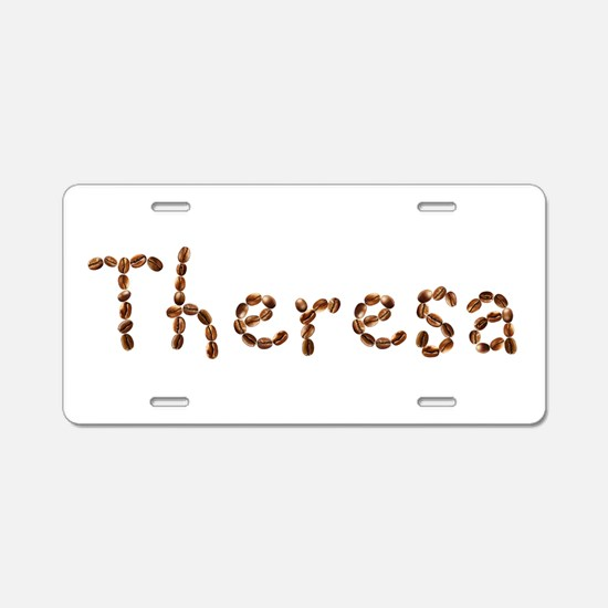 Theresa Coffee Beans Aluminum License Plate