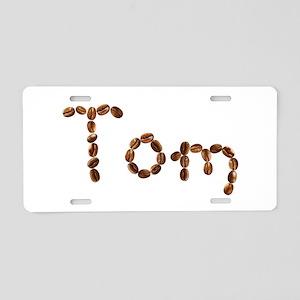 Tom Coffee Beans Aluminum License Plate